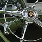 1953 Pontiac Steering Wheel Art Print
