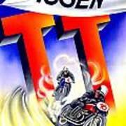 1954 - Assen Tt Motorcycle Poster - Color Art Print