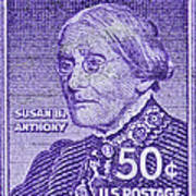 1954-1961 Susan B. Anthony Stamp Art Print