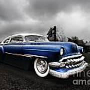 1954 Blue Buick Art Print