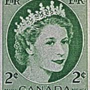 1954 Canada Stamp Art Print