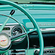 1954 Chevrolet Belair Steering Wheel 3 Art Print