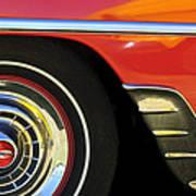 1954 Chevrolet Convertible Wheel Art Print