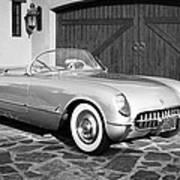 1954 Chevrolet Corvette -203bw Art Print