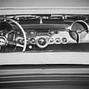 1954 Chevrolet Corvette Steering Wheel -139bw Art Print