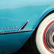 1954 Chevrolet Corvette Wheel Emblem -282c Art Print