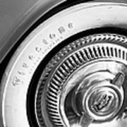 1954 Chevrolet Corvette Wheel Emblem -290bw Art Print