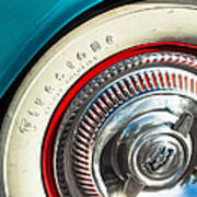 1954 Chevrolet Corvette Wheel Emblem -290c Art Print