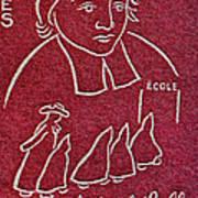1954 De La Salle Monaco Stamp Art Print