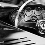 1954 Ferrari 500 Mondial Spyder Steering Wheel Emblem Art Print