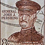 1954 General John J. Pershing Stamp Art Print