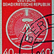1954 German Democratic Republic Stamp - Berlin Cancelled Art Print