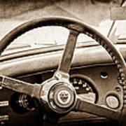 1954 Jaguar Xk120 Roadster Steering Wheel Emblem Art Print