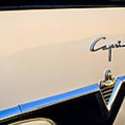 1954 Lincoln Capri Convertible Emblem 2 Art Print by Jill Reger