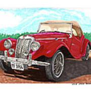 1954 M G T F  Art Print