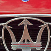 1954 Maserati A6 Gcs Emblem Art Print by Jill Reger