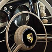 1954 Porsche 356 Bent-window Coupe Steering Wheel Emblem Art Print