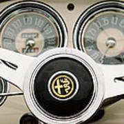 1955 Alfa-romeo 1900 Css Ghia Aigle Cabriolet Steering Wheel -2254 Art Print