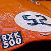 1955 Aston Martin Db3s Sports Racing Car Hood 2 Art Print