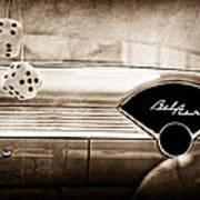 1955 Chevrolet Belair Dashboard Emblem Art Print