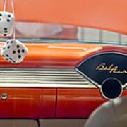 1955 Chevrolet Belair Dashboard Art Print
