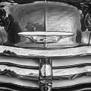 1955 Chevrolet First Series Bw Art Print