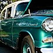 1955 Chevy Bel Air Down The Side Art Print