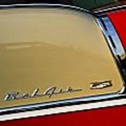 1955 Chevy Bel Air Side Panel Art Print