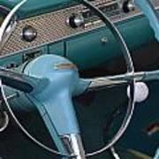 1955 Chevy Nomad Steering Wheel Art Print
