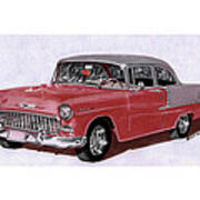 1955 Chevy Post Streeter Art Print