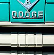 1955 Dodge C-3-b8 Pickup Truck Grille Emblem Art Print by Jill Reger