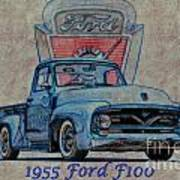 1955 Ford F100 Illustration 2 Art Print