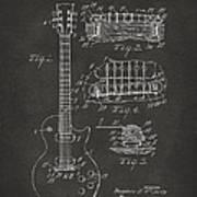 1955 Mccarty Gibson Les Paul Guitar Patent Artwork - Gray Art Print