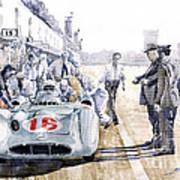 1955 Mercedes Benz W 196 Str Stirling Moss Italian Gp Monza Art Print