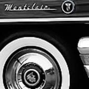 1955 Mercury Montclair Convertible Wheel Emblem Art Print