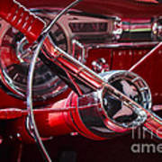 1955 Oldsmobile Dash Art Print