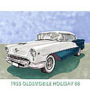 1955 Oldsmobile Holiday 88 Art Print