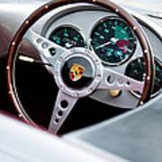 1955 Porsche Spyder Replica Steering Wheel Emblem Art Print