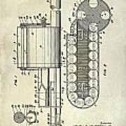 1955 Rocket Launcher Patent Drawing Art Print
