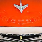 1955 Studebaker Champion Conestoga Custom Wagon Hood Ornament - Grille Emblem -0325c Art Print