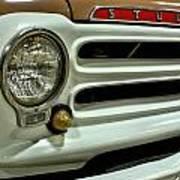 1955 Studebaker Headlight Grill Art Print