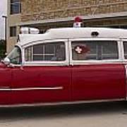 1955 Superior Cadillac Passenger Ambulance Art Print
