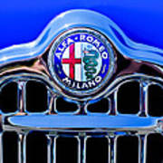 1956 Alfa Romeo Sprint Veloce Coupe Ultra Light Grille Emblem Art Print
