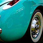 1956 Baby Blue Chevy Corvette Art Print