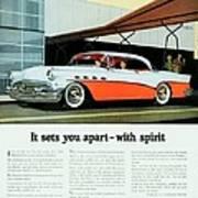 1956 - Buick Roadmaster Convertible - Advertisement - Color Art Print