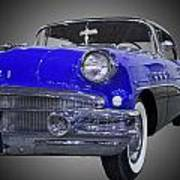 1956 Buick Special Riviera Coupe-blue Art Print