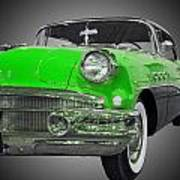1956 Buick Special Riviera Coupe-green Art Print