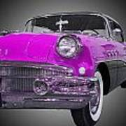 1956 Buick Special Riviera Coupe-purple Art Print