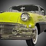 1956 Buick Special Riviera Coupe-yellow Art Print