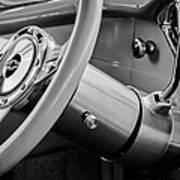 1956 Chevrolet 210 2-door Handyman Wagon Steering Wheel Emblem -189bw Art Print